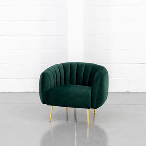 Furniture hire and equipment rentals - Dinky Armchair Moss Green (1200460005412)