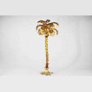 Furniture hire and equipment rentals - Vintage Gold Palm Floor Lamp