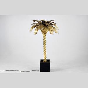 Furniture hire and equipment rentals - Vintage Palm Floor Lamp with Box Base (1061572608036)