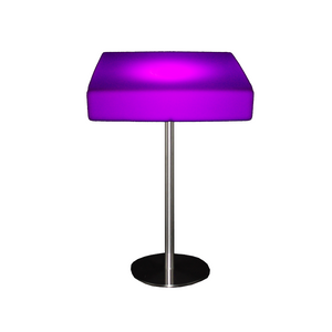 Furniture hire and equipment rentals - Illuminated Poseur Table LED
