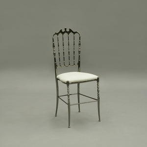 Furniture hire and equipment rentals - Napoleon Gunmetal Grey and White Chair (1230887944228)