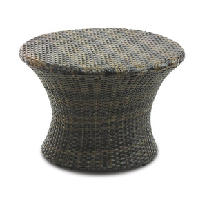 Furniture hire and equipment rentals - Rattan Round Coffee Table (839444725796)