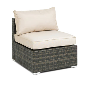 Furniture hire and equipment rentals - Rattan Modular Sofa Centre Chair (839422804004)