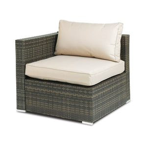 Furniture hire and equipment rentals - Rattan Corner Chair (839415988260)