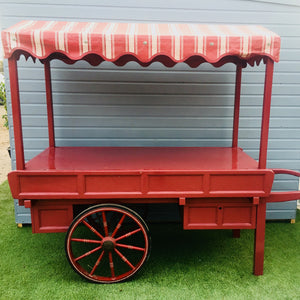 Traditional market barrow rental for events and fairs UK