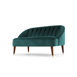 Mid century sofa green velvet hire UK