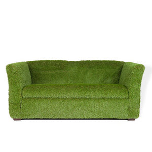 Green grass sofa lounge hire Ireland
