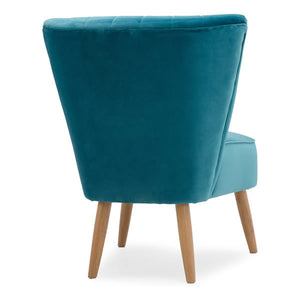 Teal Green Blue Velvet Cocktail Chair