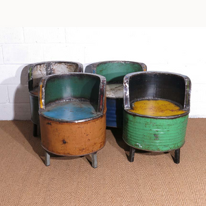 Furniture hire and equipment rentals - Paxton Oil Drum Chair (1222251249700)