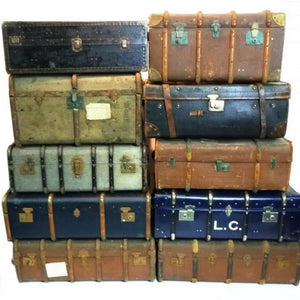 Vintage travel case hire prop suitcase decoration