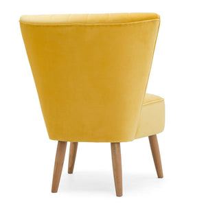 Yellow cocktail chair to hire London UK