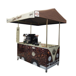 Coffee cart hire UK market stall catering display