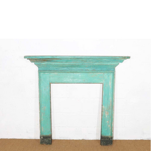 Vintage fire surround for hire UK blue (1514850287652)