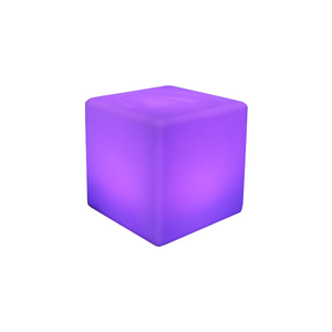 Furniture hire and equipment rentals - Illuminated Cube Stool Seat LED (1229566214180)