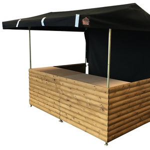 Market stall cart hire UK with canopy