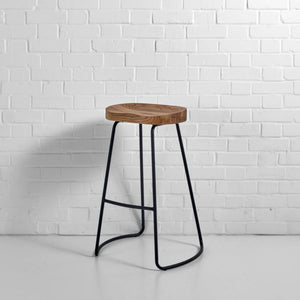 Furniture hire and equipment rentals - Milan Stool Black (1229565329444)