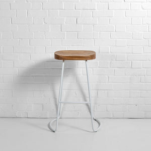 Furniture hire and equipment rentals - Milan Stool White (1229565460516)