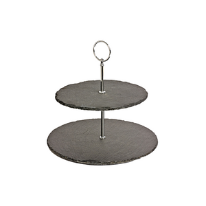 Furniture hire and equipment rentals - Natural Slate Cake Tier Stand