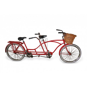 Red tandem bicycle for hire prop
