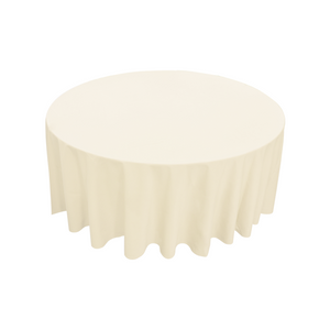 Furniture hire and equipment rentals - Round Table Linen Ivory