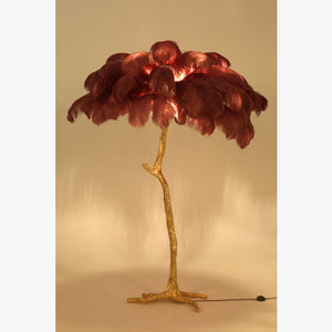 Furniture hire and equipment rentals - Ostrich Feather Palm Tree Lamp (572601565220)