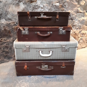 Vintage suitcase hire Scotland for weddings, prop hire and parties