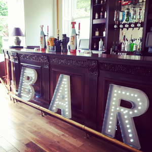 Bar Lighting Individual Letters