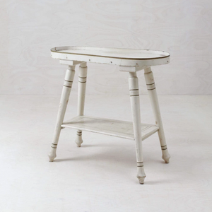 Distressed white console table for rent Berlin Germany event hire