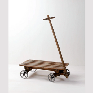 vintage decoration hire Berlin Germany wooden handcart (1498322829348)