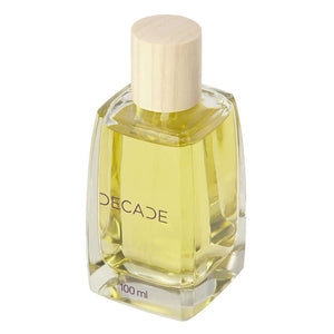 100 ml decade fragrance bottle with light wood cap