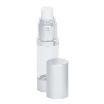 15ml clear SAN airless bottle with lid off