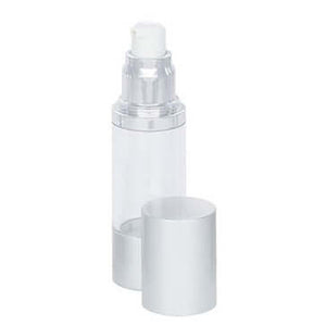 30ml clear SAN airless bottle with lid off