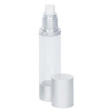 50ml clear SAN airless bottles with lid off