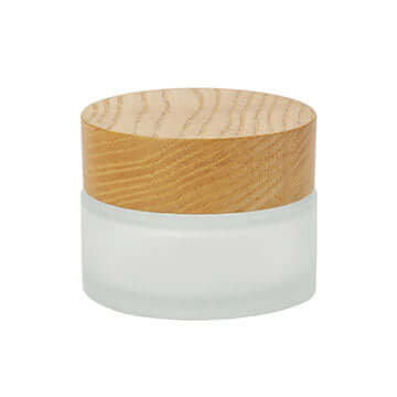 60ml cosmetic jar with wood cap