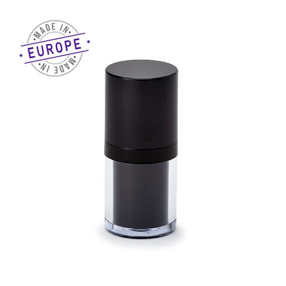 15ml black regula airless bottle