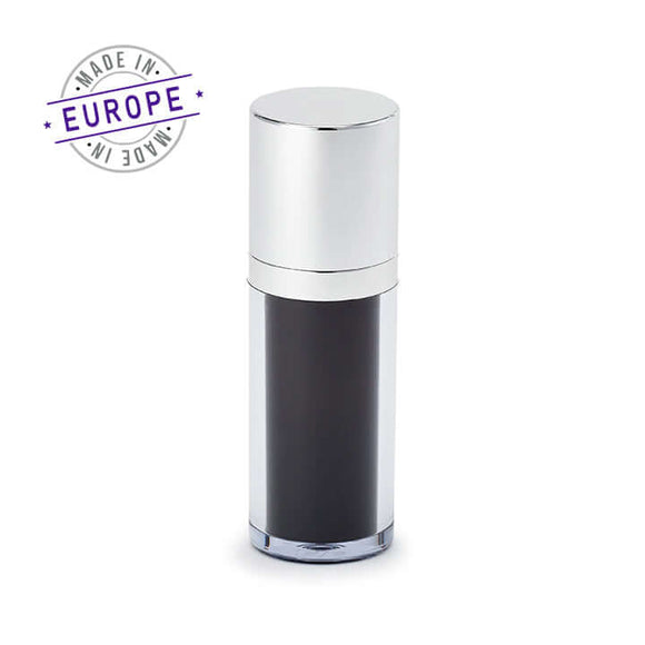 30ml black and silver regula airless bottle