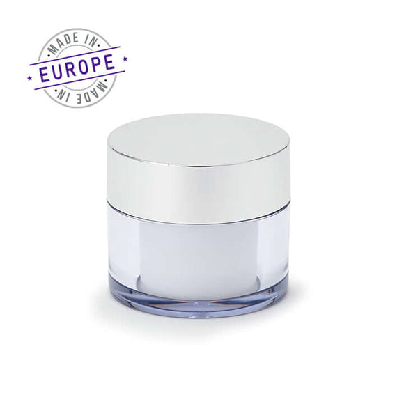 30ml white/silver regula jar