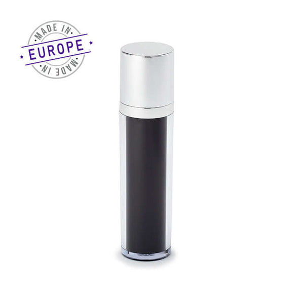 <strong>50ml</strong> Regula Airless Bottle – Black/Silver