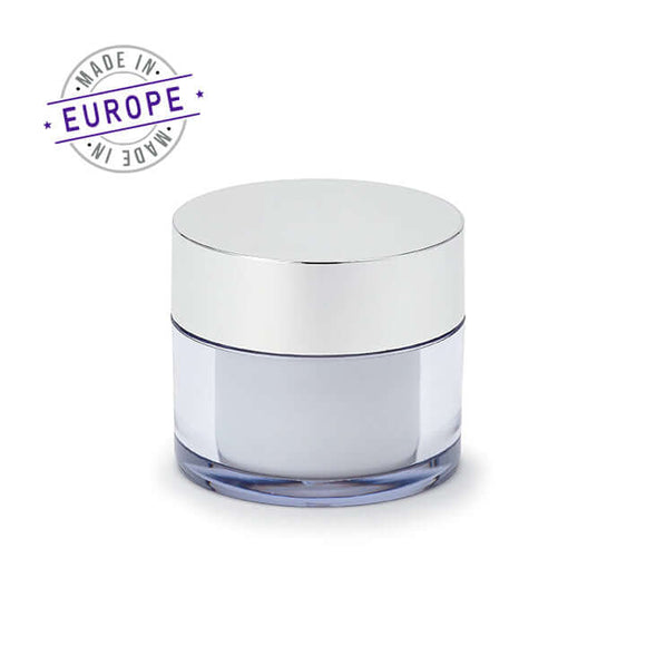 <strong>50ml</strong> Regula Jar – White/Silver