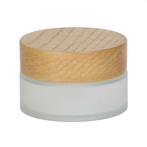 120ml jar with wood cap
