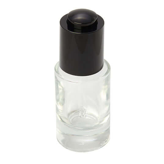 15ml clear glass bottle with dropper