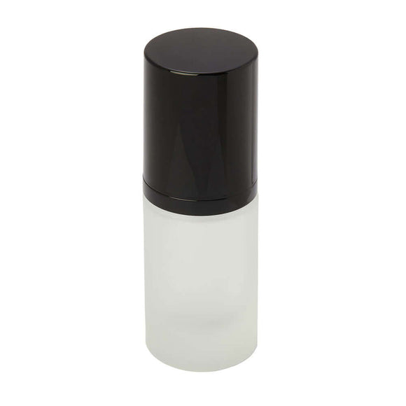 15ml frosted glass bottle with pump
