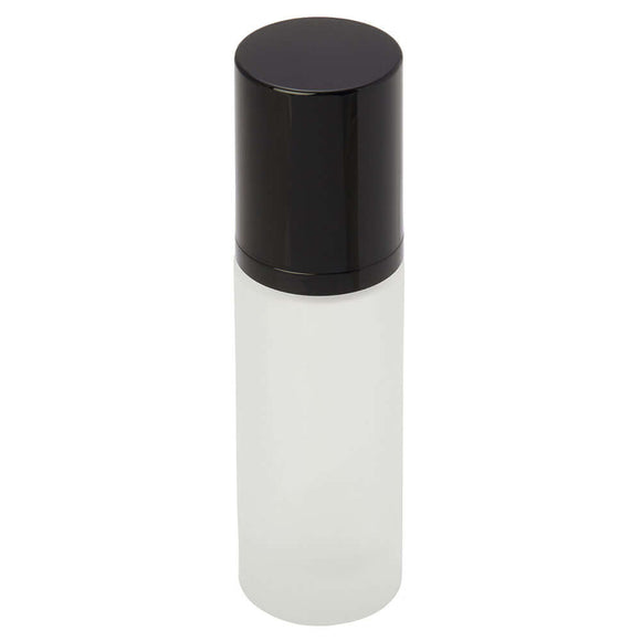 30 ml frosted glass bottle with pump