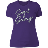 Sweet & Savage Ladies' Boyfriend T-Shirt | BleedGreenMafia.com