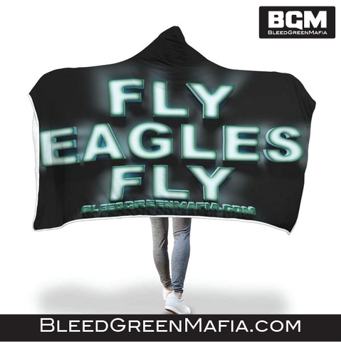Eagles Fly Hooded Blanket | BleedGreenMafia.com - BleedGreenMafia