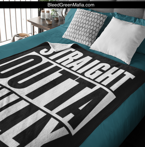 Straight Outta Philly Cozy Plush Fleece Blanket - 60x80