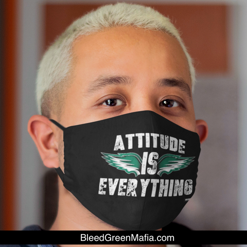 Attitude Is Everything | FMA Med/Lg Face Mask | www.BleedGreenMafia.com