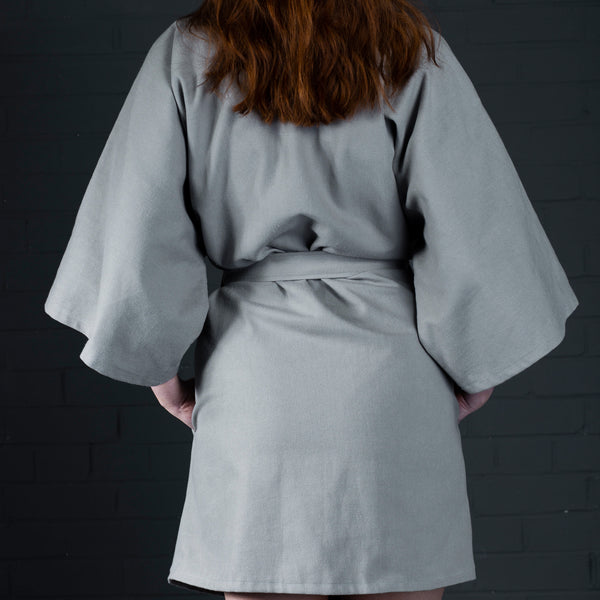 Kimono with pockets and belt batch manufactured in scotland (back)
