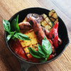 Sausage and Polenta with Grilled Vegetables