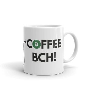 "Bitcoin Cash ""max badger"" Rock on BCH Green logo Mug"